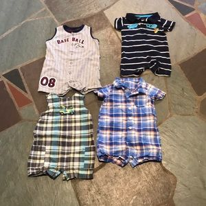 Set of 4 Rompers